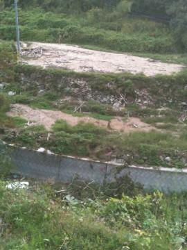去年台風で畑が・・・・