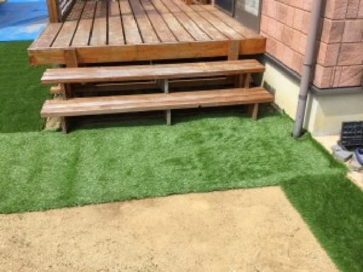 庭に人工芝を施工しました!のサムネイル