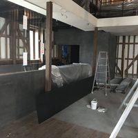 高松市北浜リノベーション  仕上げ工事 カラーモルタルのサムネイル